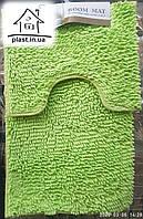 Набор ковриков для ванной комнаты Лапша 80*50 см (Салатовый)