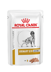 Вологий корм Royal Canin Urinary S/O Aging 7+ Роял Канiн Урiнарi С/О для собак 7+ паштет 85 гр