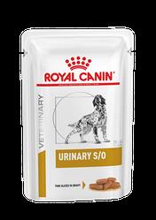 Вологий корм Royal Canin Urinary S/O Роял Канiн Урiнарi С/О для собак скибочки у соусi 100 гр