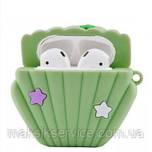 Чехол Sea Shell Case for Airpods green