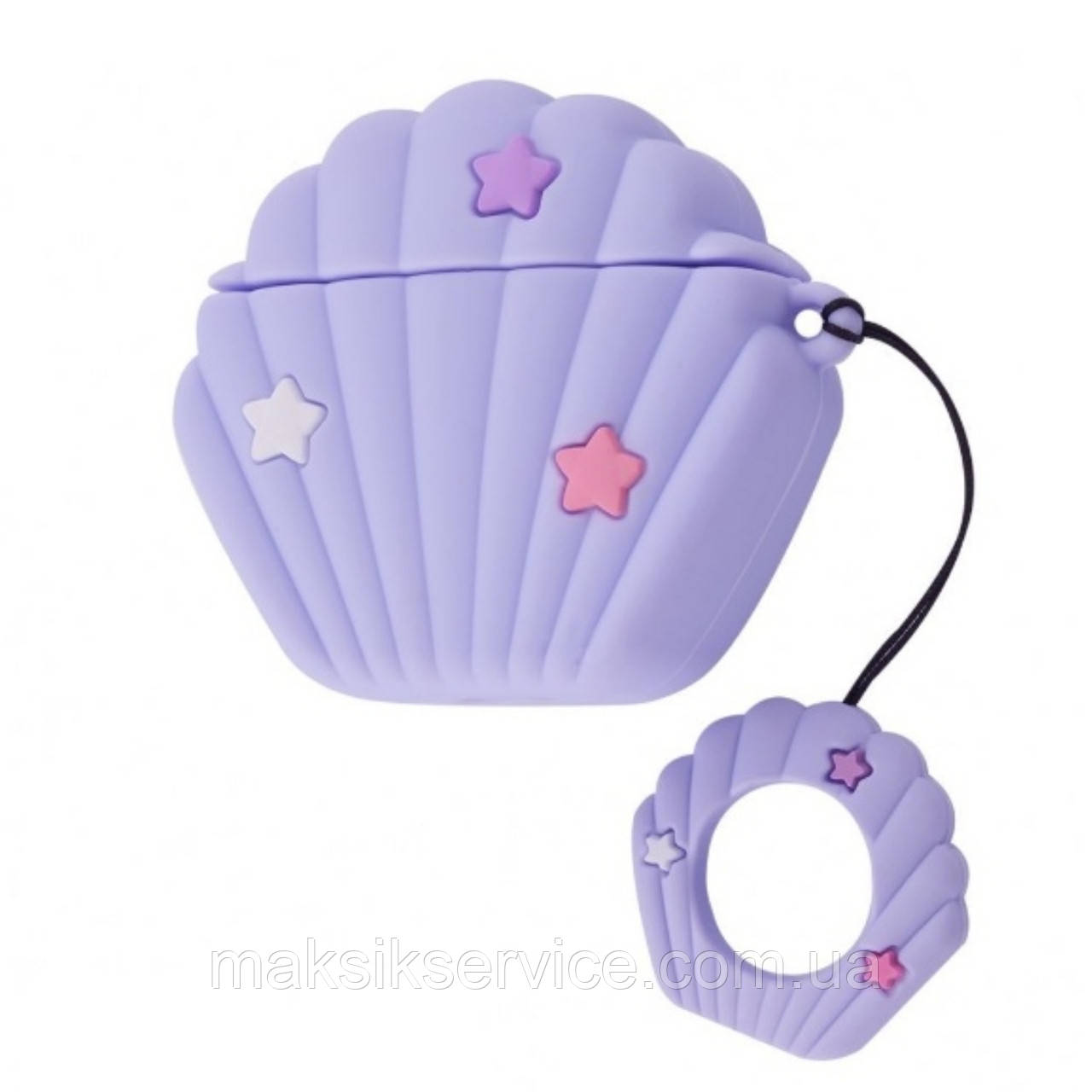 Чехол Sea Shell Case for Airpods purple