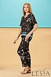 Легкі жіночі шовкові штани в етнічний принт Lesya СЕБЕК, фото 2