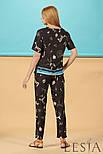 Легкі жіночі шовкові штани в етнічний принт Lesya СЕБЕК, фото 3