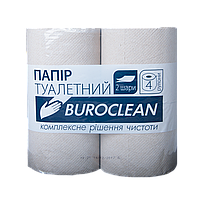 """Бумага туалетная макулатурная """"Buroclean"""", 4 рулона, серая"""