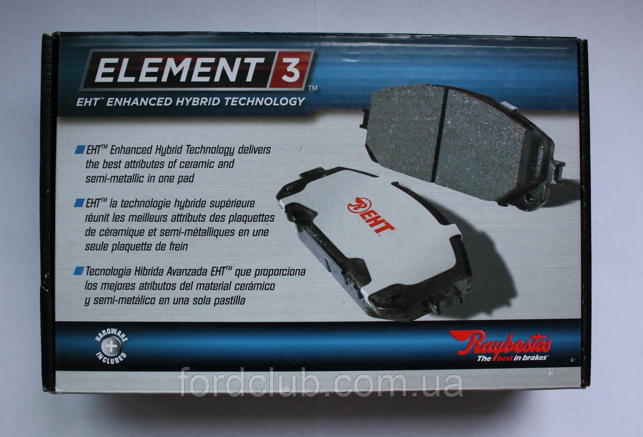 Передние колодки Ford Edge USA; Raybestos Element 3 для всех комплектаций