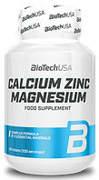 Минеральный комплекс BioTech - Calcium Zinc Magnesium (100 таблеток)