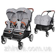 Прогулочная коляска для двойни, близнецов  погодок с люлькой переноской Carrello Connect New