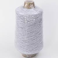 Резинка-нитка, круглая, толщиной 1 мм, для масок, цвет белый, бобина 1000 м
