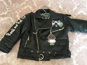Стильная куртка для девочки с поясом