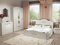 Спальный гарнитур Лючия 180x200 белый супер мат