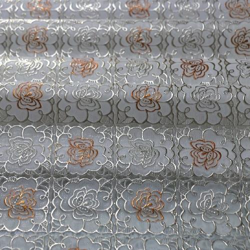 Клеенка виниловая, ажурная, золото с печатью, МА-2140