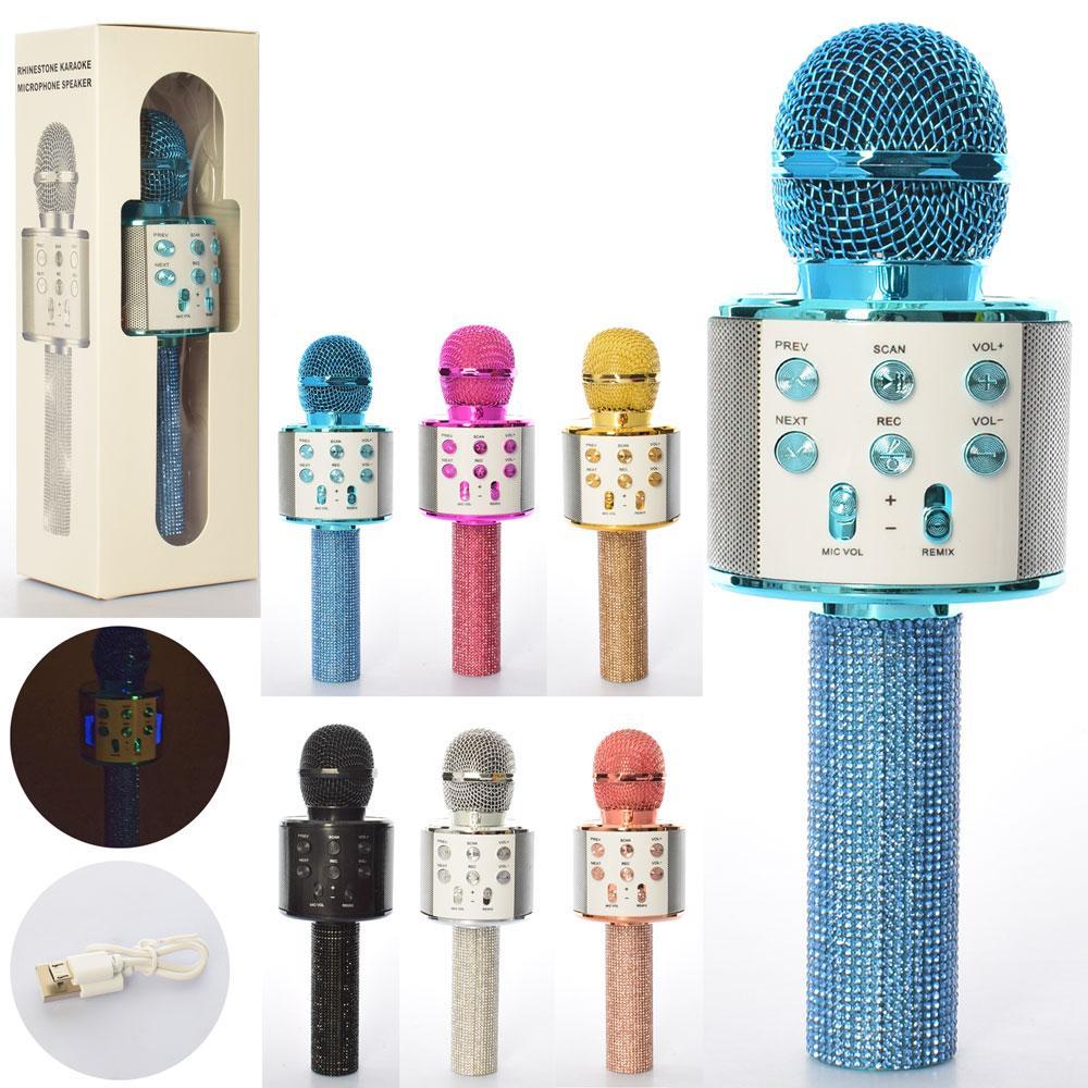 Микрофон WSTER, Bluetooth, TF слот, USB зарядное, 6 цветов, WS858Lux