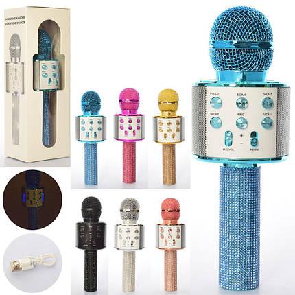 Микрофон WSTER, Bluetooth, TF слот, USB зарядное, 6 цветов, WS858Lux, фото 2