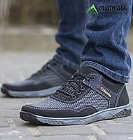 Кросівки чоловічі сітка сірі