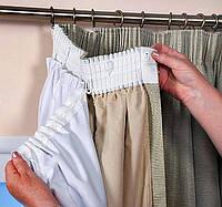 Подшив шторы на тесьму