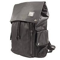 """Рюкзак городской KAKA 2209 Black 15.6"""" для ноутбука туризма школы Backpack на кнопках водостойкая ткань"""