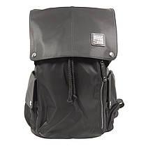 """Рюкзак городской KAKA 2209 Black 15.6"""" для ноутбука туризма школы Backpack на кнопках водостойкая ткань, фото 2"""