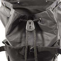 """Рюкзак городской KAKA 2209 Black 15.6"""" для ноутбука туризма школы Backpack на кнопках водостойкая ткань, фото 3"""