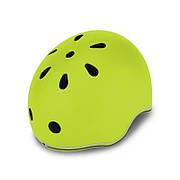 Шлем защитный 45-51см зеленый детский GLOBBER EVO LIGHTS с фонариком, (XXS/XS)
