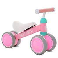 Беговел (велобег) четырехколесный Profi Kids М 5462-4 розовый