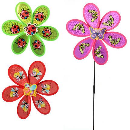 """Ветрячок """"Цветок"""", 3 вида, M6247, фото 2"""