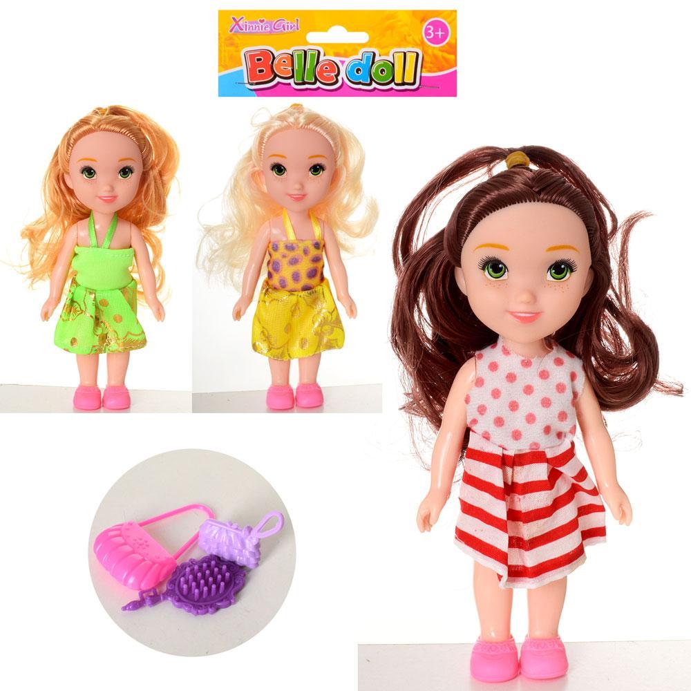 Кукла, расческа, сумочка, 3 вида, KRQ2A1