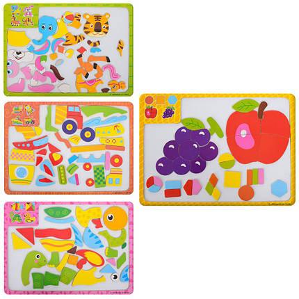 """Дерев'яна іграшка """"Пазли"""", магнітні, 4 види, C-002-3-4-5, фото 2"""