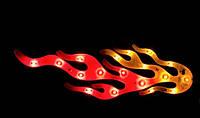Подсветка Огонь светящаяся наклейка на стекло, на кузов, в салон ( KL4090)