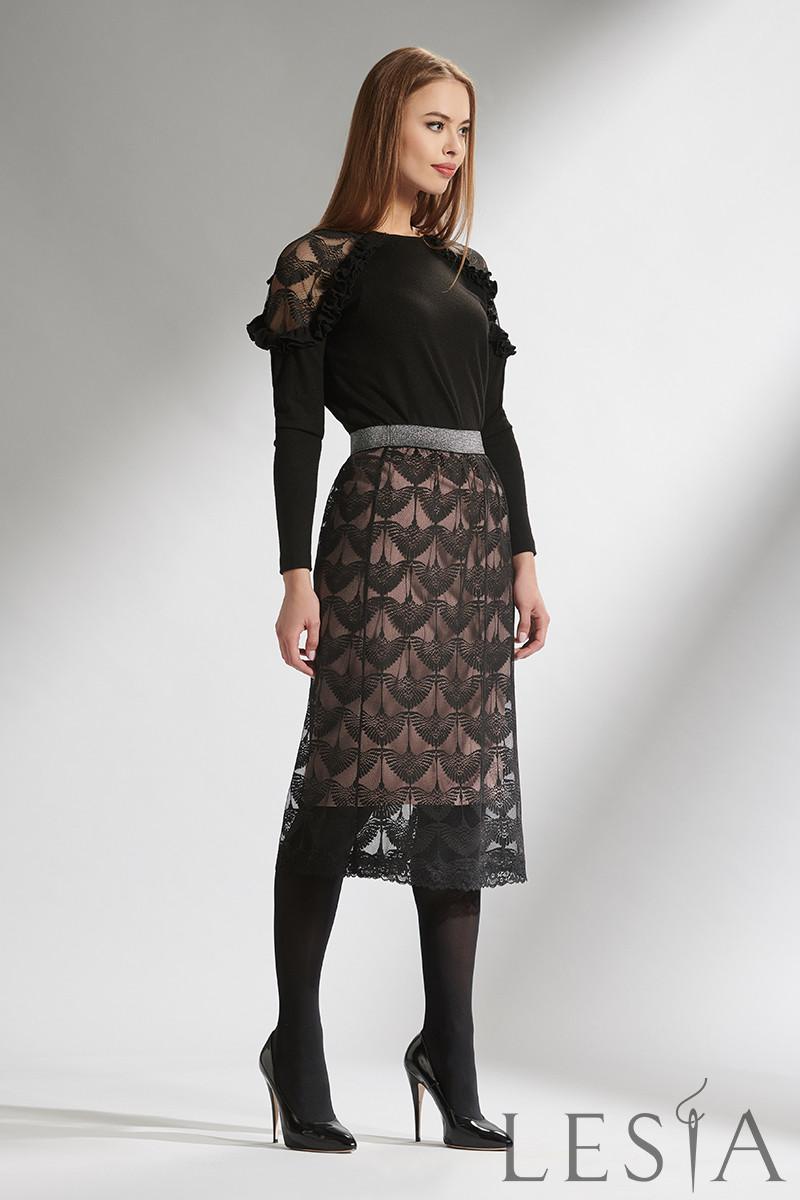 Стильний молодіжний одяг із блузи і мереживний спідниці Lesya Грейс