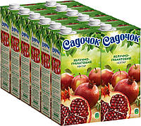 Упаковка нектара Садочок Яблочно-гранатовый нектар 0.95 л х 12 шт (4823063110273)