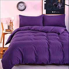 Постельное белье однотонный поплин DeLux Фиолет ТМ Moonlight Двуспальный