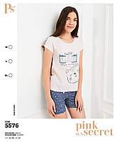 """Пижама женская футболка с шортиками """"Pink Secret"""" Турция"""