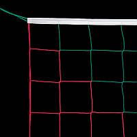 Сетка для волейбола «ЭКОНОМ 15» красно-зеленая для Республики Беларусь