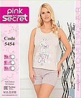 """Пижама женская майка с шортиками """"Pink Secret"""" Турция"""