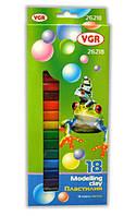 Пластилин VGR, 18 цветов (26218)