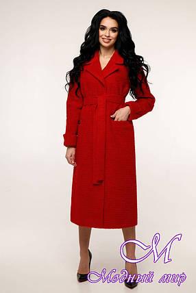 Жіноче червоне пальто весна осінь (р. 44-54) арт. 12-38/1013, фото 2