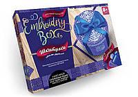 Набор для творчества «EMBROIDERY BOX» Шкатулка своими руками Круглая