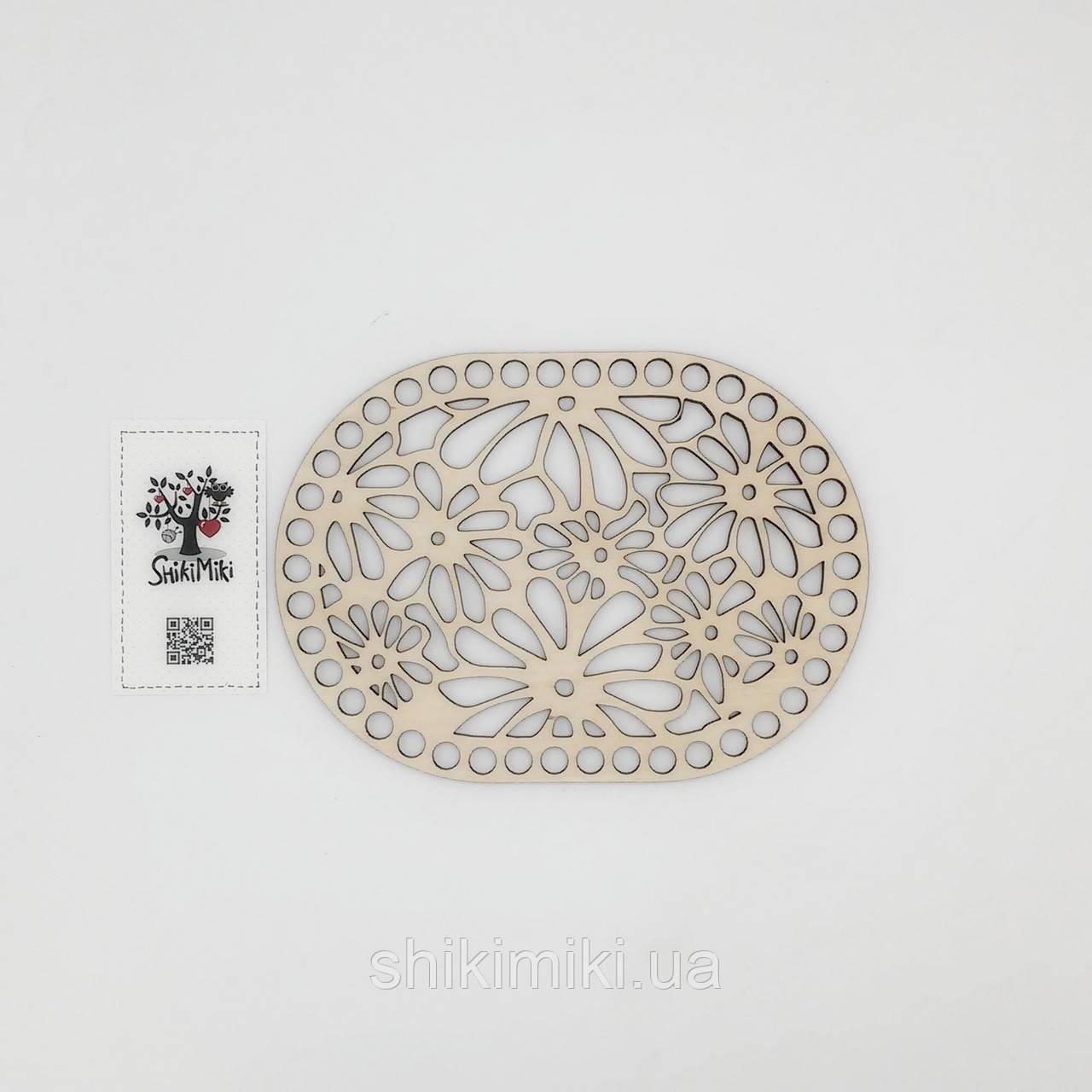 Заготовка из фанеры ажурная овальная -10 (14*19 см)