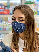 Хлопковая защитная маска для лица, маски трехслойные от вируса