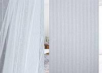 Тюль лен фентези полоски