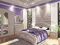 Спальный гарнитур Альба 180x200 белый супер мат