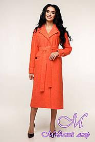 Женское пальто с поясом большой размер (р. 44-54) арт. 12-38/1042