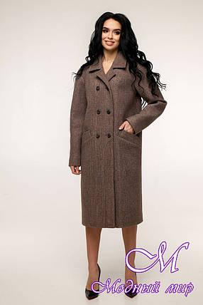 Свободное женское пальто весна осень (р. 44-54) арт. 12-41/3, фото 2