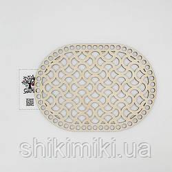 Заготовка из фанеры ажурная овальная -12 (18*25 см)