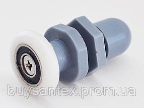 Ролик душової кабіни і душового боксу, пластиковий, одинарний, сірий (B27A)