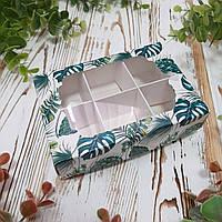 Коробка для конфет с фигурным окном и ложементом 130х90х35 мм.