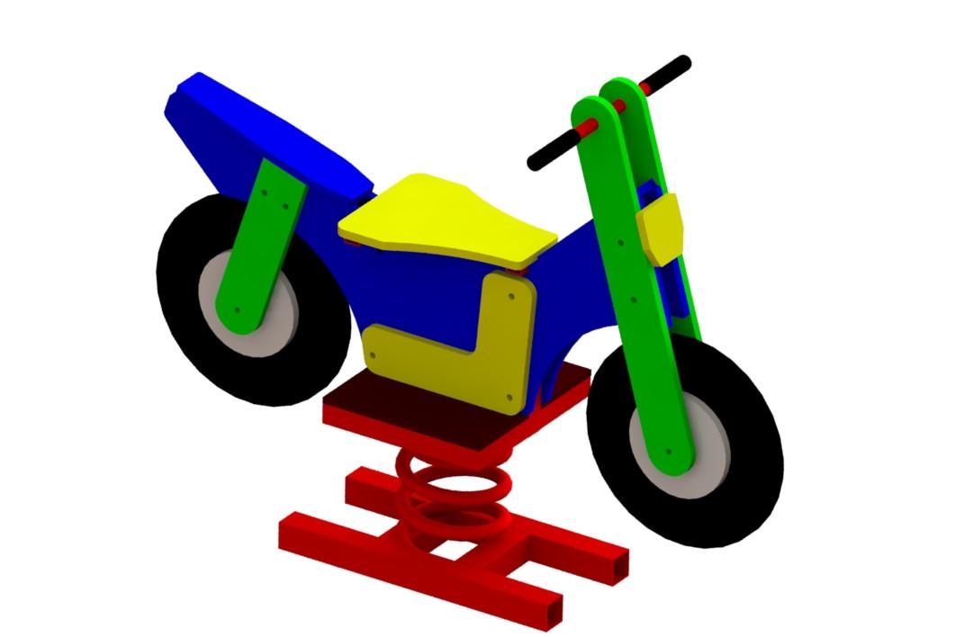 Качели на пружине Мотоцикл