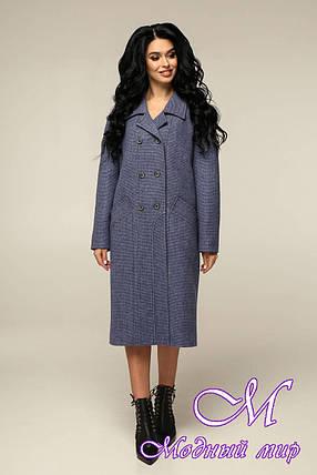 Прямое женское пальто большого размера (р. 44-54) арт. 12-41/11, фото 2