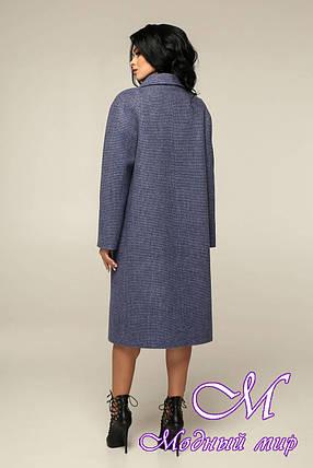 Пряме пальто жіноче великого розміру (р. 44-54) арт. 12-41/11, фото 2