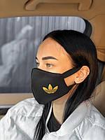 Брендовая защитная маска Adidas D9429 черная